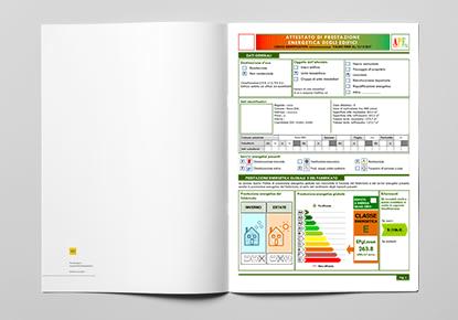 Esempio di APE Certificazione Energetica a Genova Sori Recco Rapallo